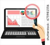 web analytics information and... | Shutterstock . vector #675981556