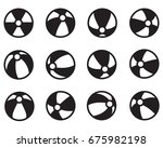 set of beach ball vector icon... | Shutterstock .eps vector #675982198