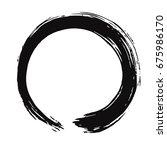 black enso zen vector brush... | Shutterstock .eps vector #675986170