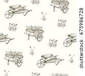 vector illustration. pen style... | Shutterstock .eps vector #675986728