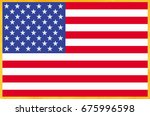 grunge usa flag | Shutterstock . vector #675996598
