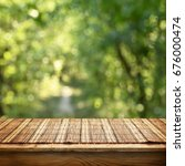 empty bamboo table | Shutterstock . vector #676000474