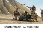 soldiers are using drone for... | Shutterstock . vector #676000780