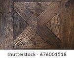 old cross wooden texture | Shutterstock . vector #676001518
