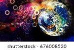 astrological symbol zodiac in... | Shutterstock . vector #676008520