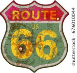 vintage route sixty six road... | Shutterstock .eps vector #676010044