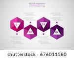 vector infographic template.... | Shutterstock .eps vector #676011580