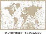 vintage world map.map of the... | Shutterstock .eps vector #676012330
