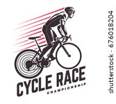 Cycle Race. Sport Emblem