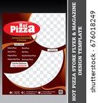 hot pizza store flyer  ... | Shutterstock .eps vector #676018249