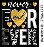 forever slogan and gold foil... | Shutterstock .eps vector #676018339