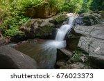 beautiful waterfall in northern ... | Shutterstock . vector #676023373