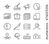 freelance jobs line icon set 2. ... | Shutterstock .eps vector #676025206