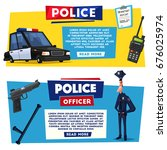 policeman character and police... | Shutterstock .eps vector #676025974