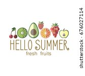 summer fruit banner . vector... | Shutterstock .eps vector #676027114