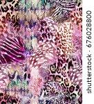 animal print mix    seamless... | Shutterstock . vector #676028800