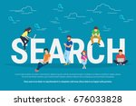 online searching concept vector ... | Shutterstock .eps vector #676033828