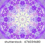 beautiful lilac unique... | Shutterstock . vector #676034680