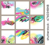abstract colorus splash poster... | Shutterstock .eps vector #676034848