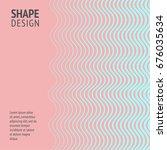 minimal cover. future geometric ... | Shutterstock .eps vector #676035634