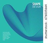 minimal cover. future geometric ... | Shutterstock .eps vector #676035664