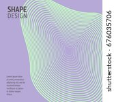 minimal cover. future geometric ... | Shutterstock .eps vector #676035706