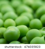 fresh green peas. studio photo   Shutterstock . vector #676035823