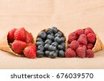 composition from fresh fruit on ... | Shutterstock . vector #676039570