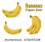 a set of bananas | Shutterstock .eps vector #676045108