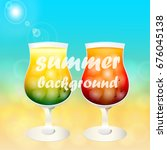 summer background with cold... | Shutterstock .eps vector #676045138