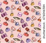 women's colorful bag  hand bag  ... | Shutterstock .eps vector #676046584