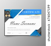 certificate premium template...   Shutterstock .eps vector #676047199