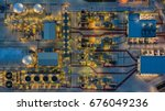 aerial view electrical power... | Shutterstock . vector #676049236
