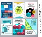 set of brochure design ... | Shutterstock .eps vector #676061626