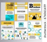set of brochure design ... | Shutterstock .eps vector #676061659