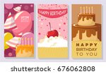 birthday card vector set | Shutterstock .eps vector #676062808
