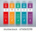infographic design template.... | Shutterstock .eps vector #676065298