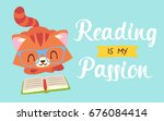 vector reading is my passion... | Shutterstock .eps vector #676084414