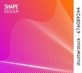 minimal cover. future geometric ... | Shutterstock .eps vector #676089244