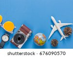 outfit and accessories of... | Shutterstock . vector #676090570