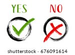 yes and no acceptance and... | Shutterstock .eps vector #676091614