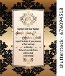 vintage baroque style wedding... | Shutterstock .eps vector #676094518