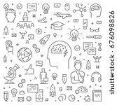 modern line web concept for... | Shutterstock .eps vector #676098826