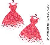 vector set confetti splash in... | Shutterstock .eps vector #676107190