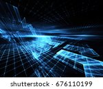 abstract technology... | Shutterstock . vector #676110199