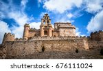 abandoned medieval castle near... | Shutterstock . vector #676111024