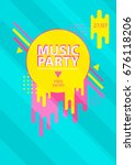 poster  musical party  vector | Shutterstock .eps vector #676118206