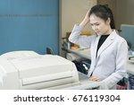 stress young asian... | Shutterstock . vector #676119304