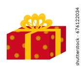 gift box with bow  isolated on...   Shutterstock .eps vector #676122034
