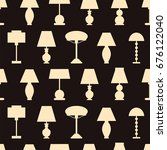 table lamps  seamless...   Shutterstock .eps vector #676122040